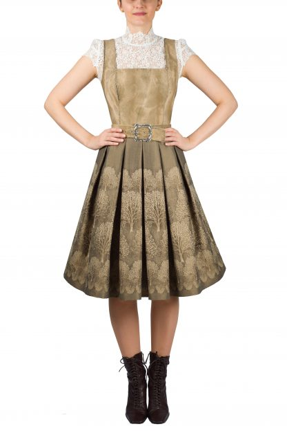 Mothwurf Kleid Camel HW 21/22, Onlineshop Freisteller